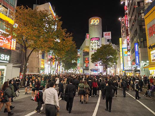 ハロウィンの日に渋谷で坂道散歩1