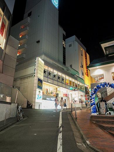 渋谷パルコと井ノ頭通りへと下る坂道1