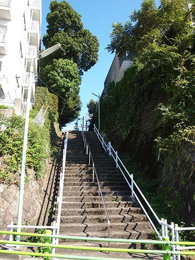 行善寺横の階段-6