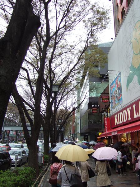 雨、坂、表参道1