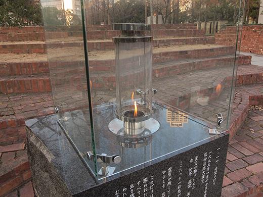東山遊園地の慰霊と復興のモニュメント。そして21年10