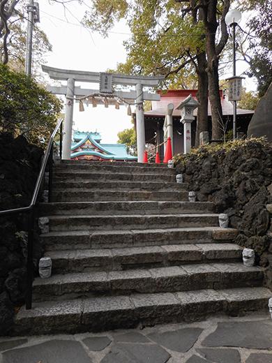 多摩川浅間神社の男坂?10