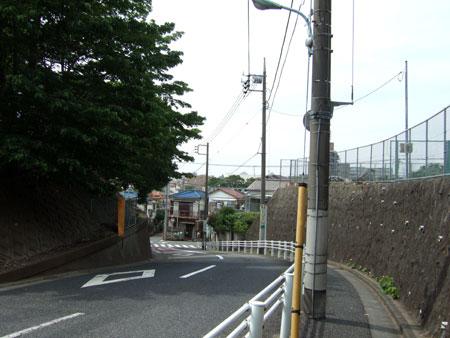 御廟所と歴代墓所の間を通る坂道1