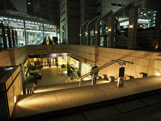 ブラジル色の都庁と階段夜景2