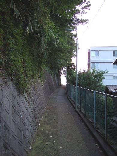 大田区山王4丁目のひっそりとした坂道2