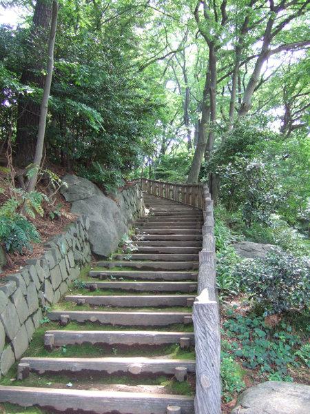 本門寺公園内の階段2