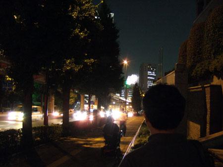 富士見坂から花火5