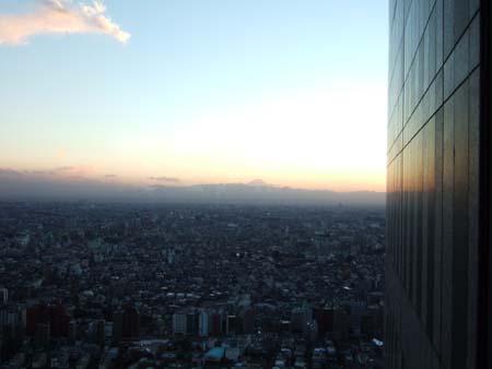 都庁からの富士山2