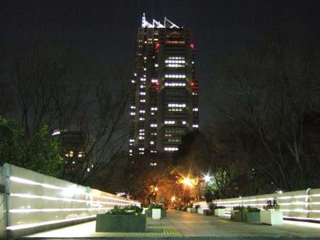 新宿中央公園の夜