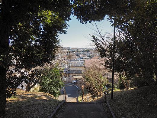 聖蹟桜ヶ丘の天守台(関戸城跡)の階段と坂道4