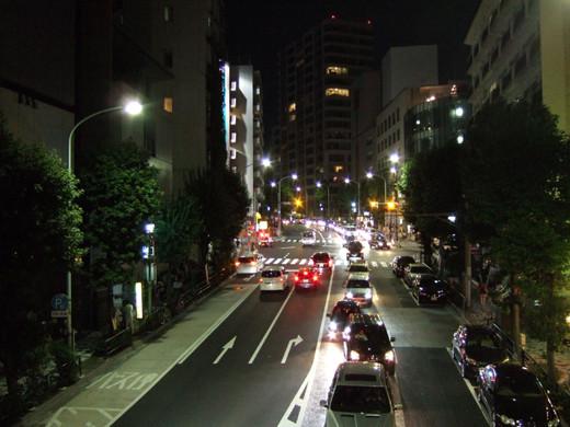 坂道からの神宮外苑花火2