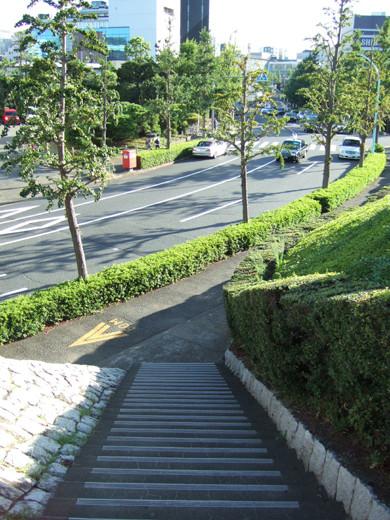 代々木体育館の石垣階段2