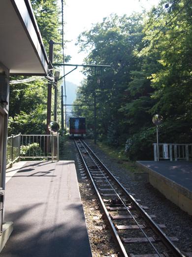上強羅駅への坂道9