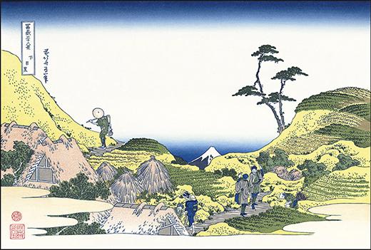 富嶽三十六景・下目黒