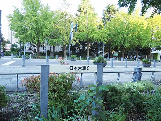 横浜・関内の「日本大通り」をぶらぶら1