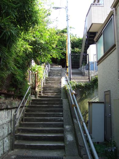 大田区山王の厳島神社へ下る階段4
