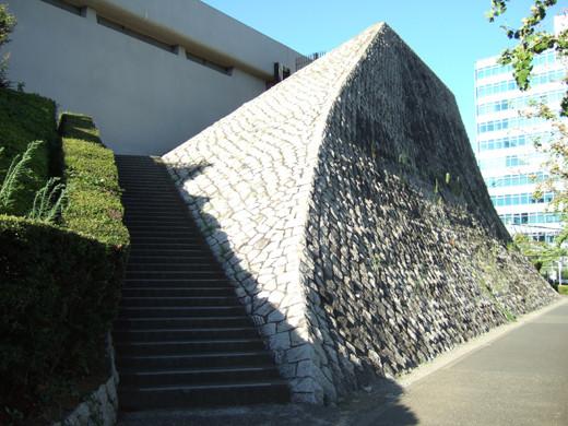 代々木体育館の石垣階段1