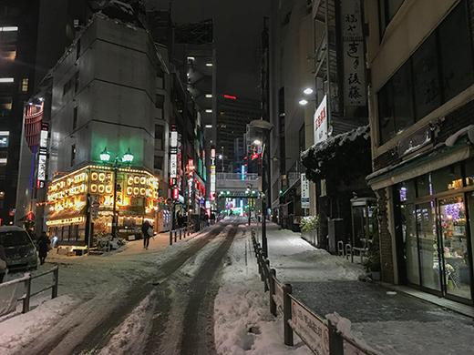 六本木坂道雪景2