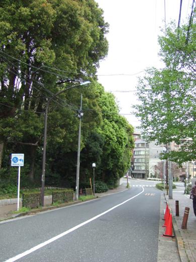 渋谷國學院と御用邸の横の坂5