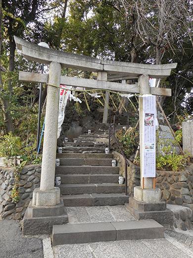 多摩川浅間神社の男坂?5