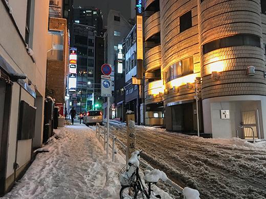 六本木坂道雪景3