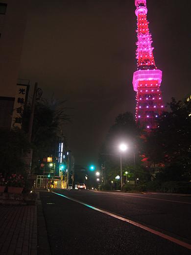 ピンクリボンライトアップ@東京タワーと坂道3