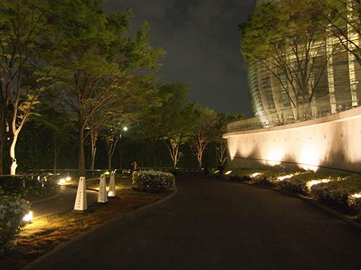 夜中の国立新美術館とさくら坂をぶらりと2