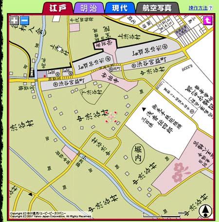 渋谷古地図_江戸