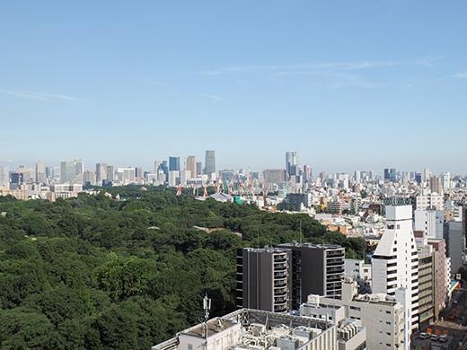 ひさびさに新宿高島屋の屋上からの国立1