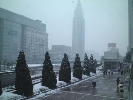 新宿雪景色1