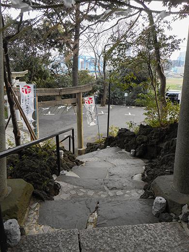 多摩川浅間神社の男坂?9
