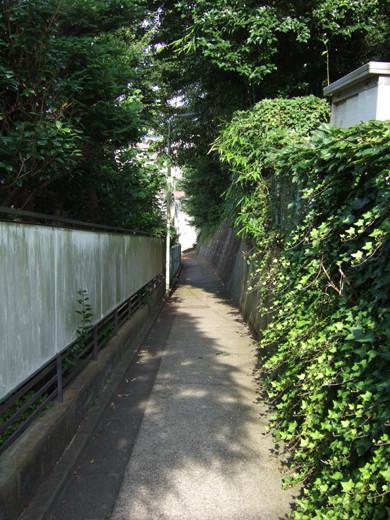 大田区山王4丁目のひっそりとした坂道1