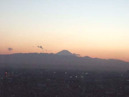 都庁からの富士山3
