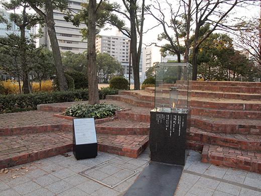東山遊園地の慰霊と復興のモニュメント。そして21年9