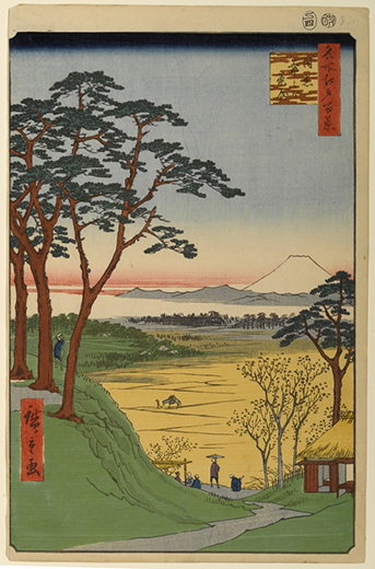 茶屋坂(NO.263)-広重絵図