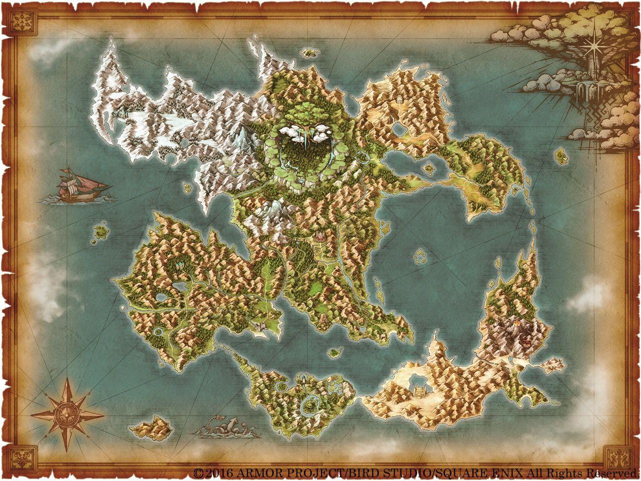 【悲報】ドラクエ11のワールドマップが実は物凄く狭いんじゃないか疑惑浮上【DQ11】