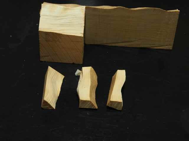 柘植の木片