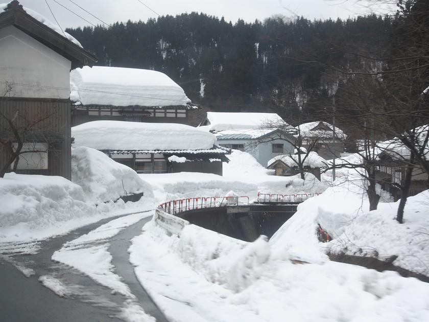 福井・池田町の雪景色