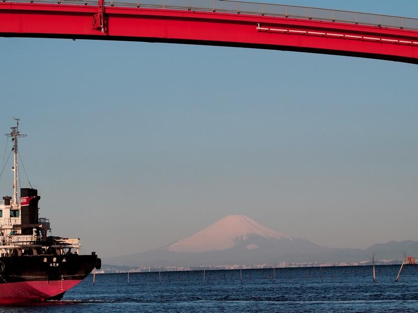 7.木更津港からの富士