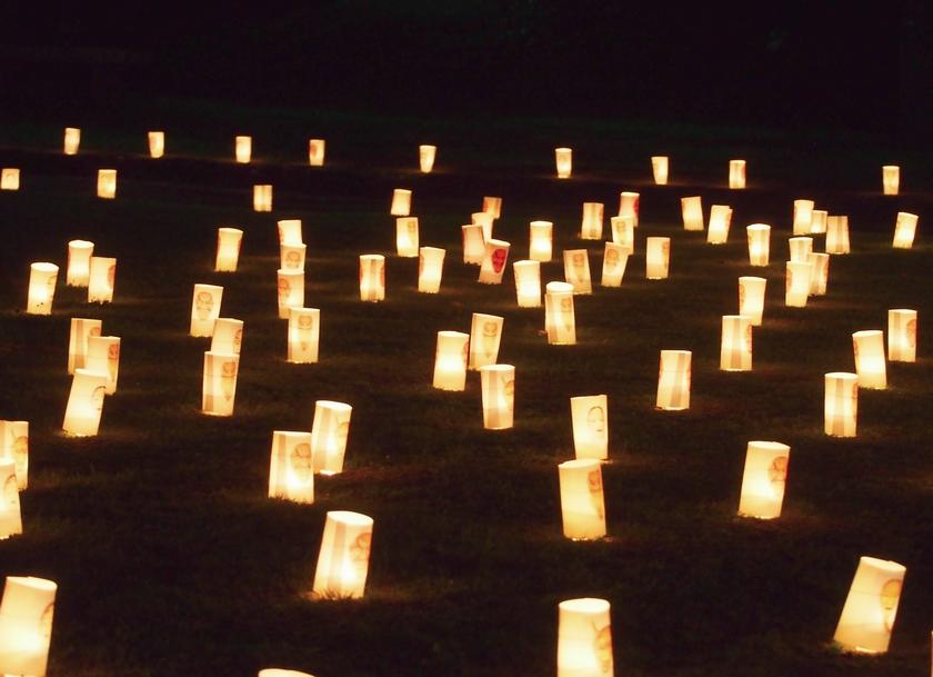 能面の蝋燭行灯