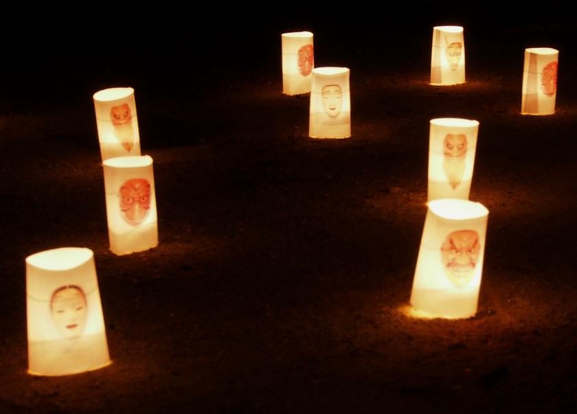 能面の蝋燭行灯(4)