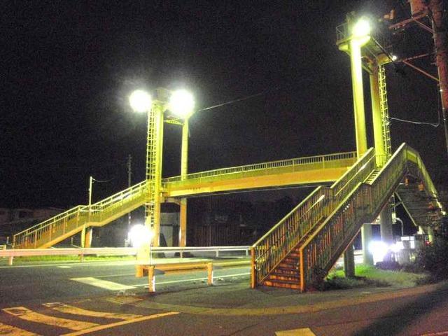 移動前の歩道橋