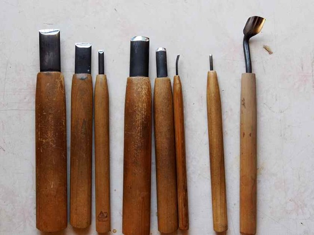 中彫り道具