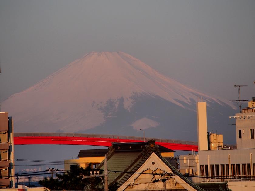 6.ホテルからの富士(2)