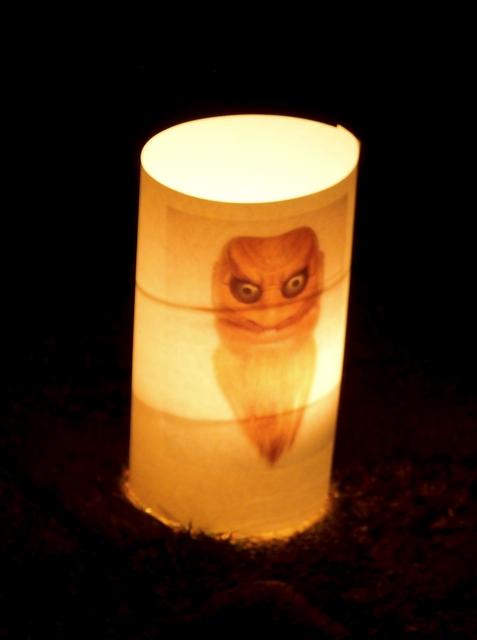 能面の蝋燭行灯(3)