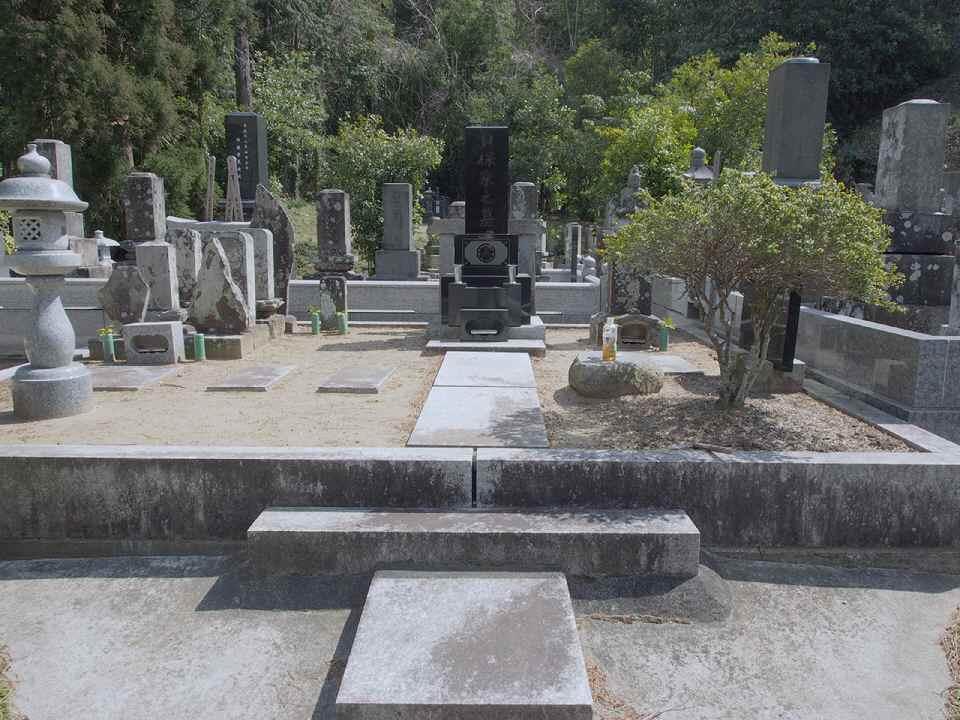 掃除前のお墓