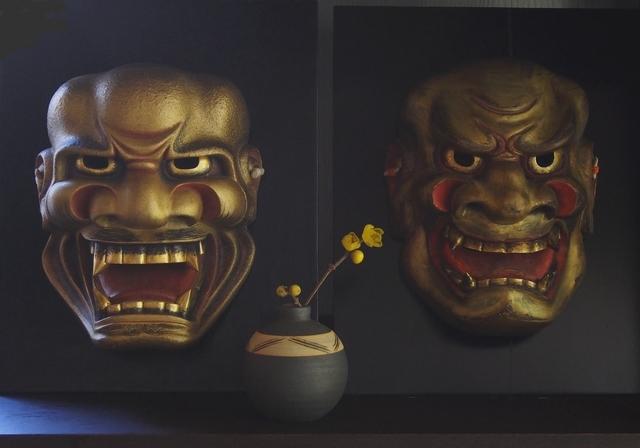 蝋梅と獅子口・子獅子 (1)