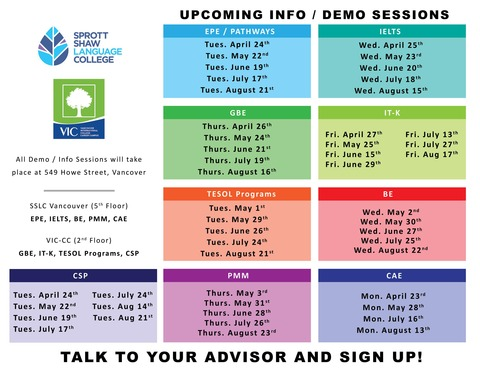 SSLC VIC-CC Vancouver Demo Poster Apr-Aug 2018