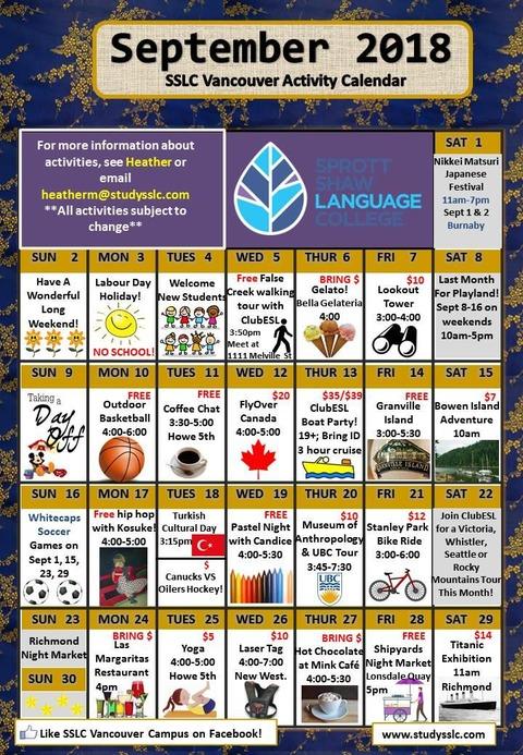 SSLC_Vancouver_Activity_Calendar_09_2018