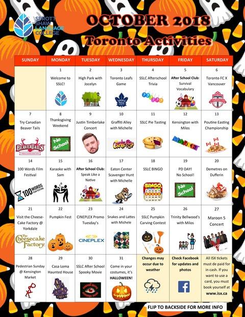 SSLC-tronto-october-20118-activities